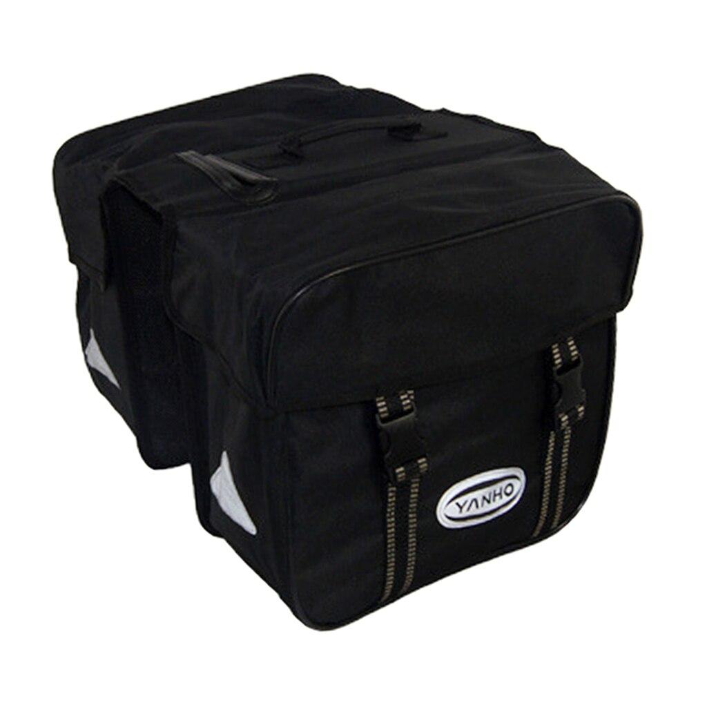 Large Capacity Double Bike Saddle Bag, Waterproof Bicycle Grocery Pannier, Durable Bag