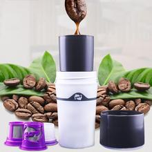 Mini Portable French Press Drip Coffee Maker Travel Outdoor Moka Brewer Compatible Refillable Cups Pot Mug for Office