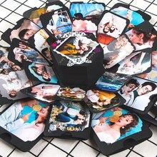 11 цветов, вечерние подарочные коробки для скрапбукинга на юбилей, DIY фотоальбом, подарок на день рождения, Рождество