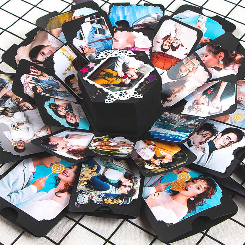 11 Colors Surprise Party's Love Explosion Box Gift Explosion for Anniversary Scrapbook DIY Photo Album birthday Gift 15x15x15cm