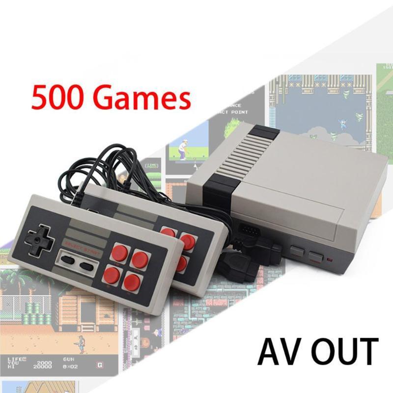 Dropshipping 8Bit Saída AV Video Game TV Mini Retro Game Console Player Embutido 500/620 Jogos de Consola de Jogos Portátil Retro