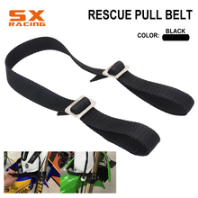 Motorcycle Universal Fork Rescue Strap Pull Sling Belt For HONDA YAMAHA KTM SUZUKI KAWASAKI DUCATI BMW Dirt Bike Motocross motorcycle front rear rescue pull strap sling belt for honda yamaha kawasaki cr crf yz wrf250 wrf450 kx kxf klx dirt pit bike