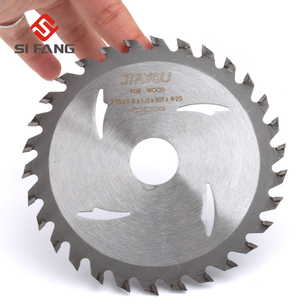 4''/110mm TCT Non-Ferrous Metal Circular Saw Blade 30T Cutting Disc Saw Blades 20mm Arbor For Wood Aluminum Cutting Blade Tool