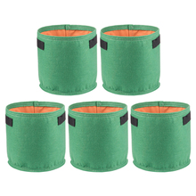 S/M/L/XL 5Pcs 5/10/20/40L Color Gallon Nursery Planter Bag Planting Bag Non-woven Plant Pouch Gardening Grow Bag - Grass Green цена 2017