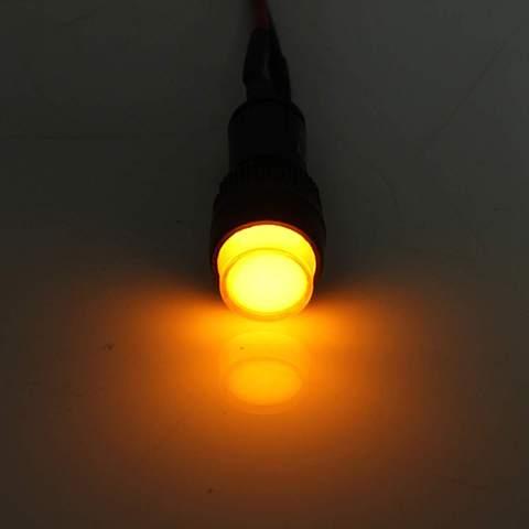 Car Auto LED Dash Board Panel Warning Light Indicator Lamp Red Blue Green Amber Waterproof 12V 10/12mm Car Light Source Karachi
