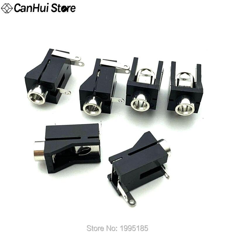 DC socket Black 10Pcs/lot PJ302M 3.5MM 1/8 Female Audio Connector 3 Pin DIP Headphone Jack PJ-302 M