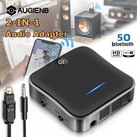 Bluetooth 5.0 Transmitter and Receiver, 2 in 1 bluetooth Audio Adapter for TV Laptop Stereo Headphone Speaker Wireless Adapter