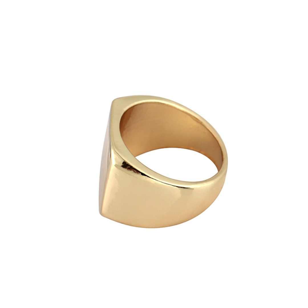 Prosty czarny/złoty/srebrny kwadratowy pierścień nowy marka mężczyźni szerokość sygnet polerowane pierścienie Shellhard Punk pierścień biżuteria rozmiar 6-12