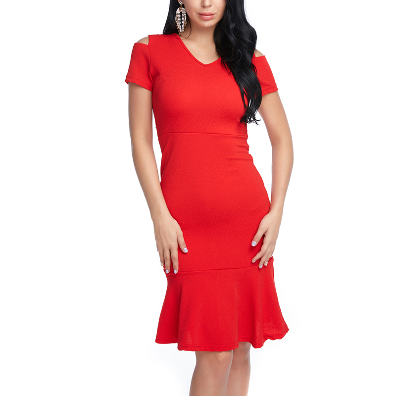 Women Sexy Trumpet Dress Bodycon Summer Plus size Work Dresses Spring Vintage Off shoulder Short Sleeve Elegant Party Vestidos