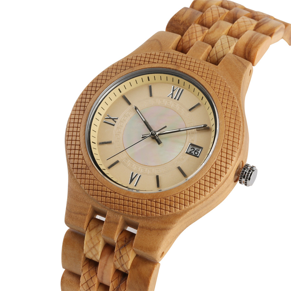 Nature Bamboo Men Wrist Watch Auto Date Display Full Wooden Watches Man Bamboo Band Fashion Casual Male Clock Gift With BoxNature Bamboo Men Wrist Watch Auto Date Display Full Wooden Watches Man Bamboo Band Fashion Casual Male Clock Gift With Box