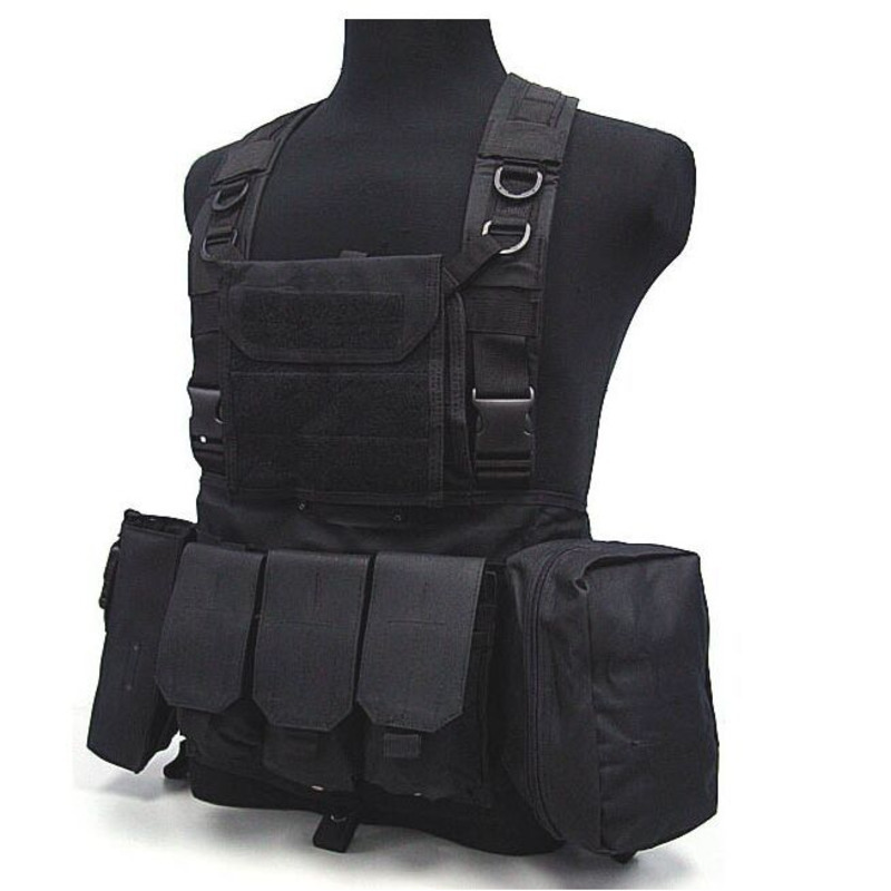 Chasse extérieure Ciras Tactique Militaire Airsoft Gilet Plate Carrier Déchargement Chest Rig Sac Molle Camping Voyage Sport Balade 3