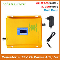 TianLuan GSM 900 mhz DCS 1800 mhz Dual Band Signal Booster 2g 4g LTE GSM DCS Handy signal Repeater mit Netzteil|Signal-Booster|Handys & Telekommunikation -