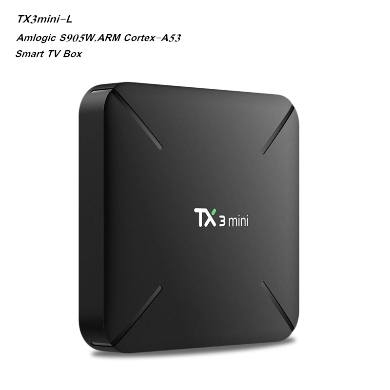 Original Tanix TX3 Mini L Smart TV BOX S905W 4K HD Set Top Box Android 7.1 1GB/2GB 8GB/16GB Set-Top Box Bluetooth Media Player original xiaomi mi4c patchwall tv box 1gb 8gb amlogic s905l 2 4g wi fi bluetooth set top box supports 4k hd smart media player