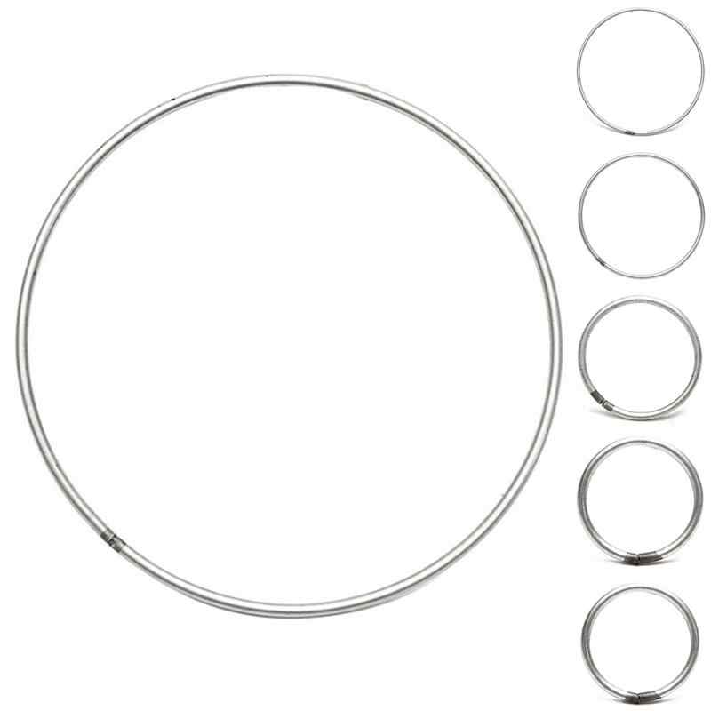Dream Catcher วงกลมแหวนเงินสีเหล็กรอบวงกลมสำหรับการสร้าง DreamCatcher ผลการค้นหา