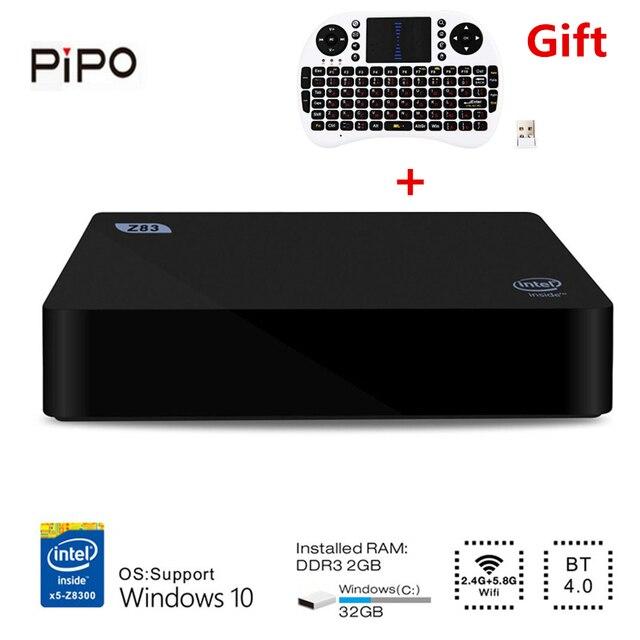 Z83II Nhỏ Cửa Sổ PC 10 Intel Atom X5-Z8350 Quad Core 2.4G 5.8G WiFi Máy Tính Để Bàn Máy Tính Máy Tính Mini Minipc Phương Tiện Truyền Thông palyer 2G 32G