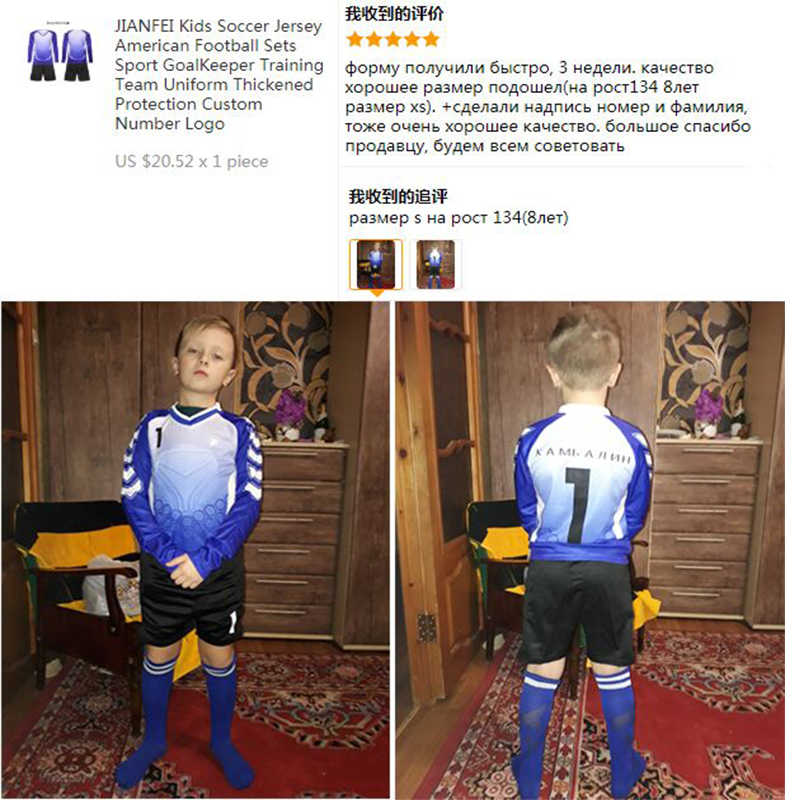 01448b51bec7 ... Soccer Jersey Goalkeeper Shirt Pants Survetement Football 2018 2019  Training Uniform Suit Kids Thickened Protection Kits ...