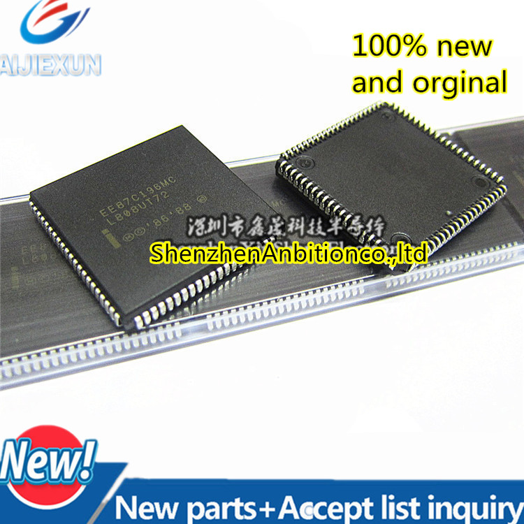 1pcs New And Orginal EE87C196MC N87C196MC PLCC84 8XC196MC INDUSTRIAL MOTOR CONTROL MICROCONTROLLER In Stock