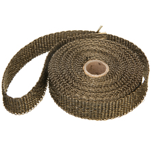 25mm*7.5 Meters Thermal Exhaust Header Pipe Tape Heat Insulating Wrap Fireproof Cloth Roll With Durable Steel Ties Kit