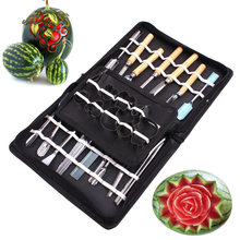 46 Pcs/Set Vegetable Fruit Carving Tool Stainless Steel Watermelon Cutting Slicing DIY Assorted Cold Dishes Tools WXV Sa
