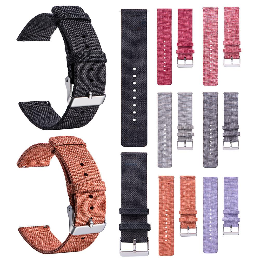 Image 2 - 20MM Universal Nylon Canvas Replacement Watch Band Wrist Straps Suitable Smart Watch Brand New And High Quality Comfortable-in Smart Accessories from Consumer Electronics