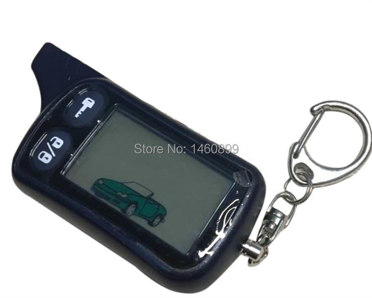 TZ 9010 LCD Remote Control Key Fob Chain For Russian Version 2-Way Car Alarm System Tomahawk TZ9010 TZ-9010