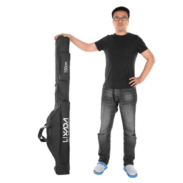 Lixada 100/130/150cm balıkçı çantası Oxford bez katlanır olta makara çanta olta takımı saklama torbaları seyahat taşıma çantası Pesca