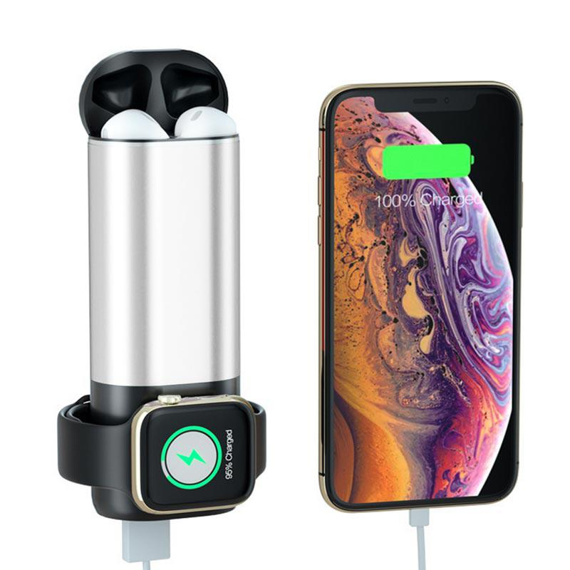3 in 1 Power Bank Fast Charging Charger for Iphone for Apple Watch Series 4 3 for Airpods Headsets3 in 1 Power Bank Fast Charging Charger for Iphone for Apple Watch Series 4 3 for Airpods Headsets