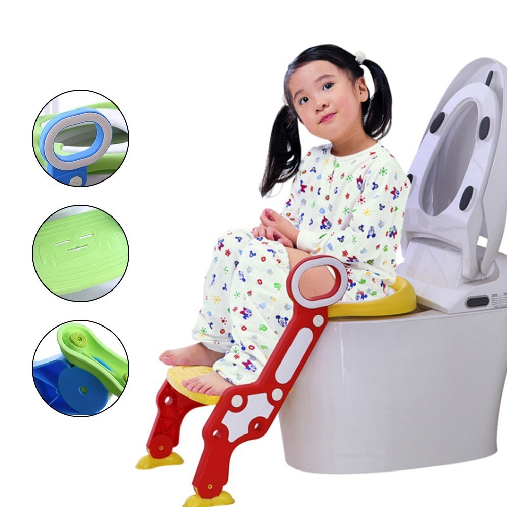 Baby Toilet With Adjustable Ladder Baby Potty Training Seat Infant Potty Chair Kids Folding Toilet Trainer Seat Pot For Children