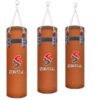 80/90/100/120 cm PU Sandbag High Quality Punching Bag Kicking Train Sand Pear Bag Leather Suede Boxing Bag Indoor Sport Earthbag