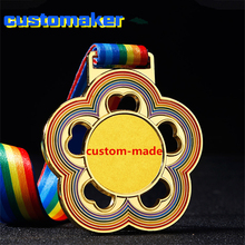 10pcs Customized name competition Medals Trophy rainbow Neck Ribbons Solid Metal Awards for Kids Sports Events in School race tortuous star shaped metal trophy customized logo or words to crystal base video music awards grammy trophy for award ceremony