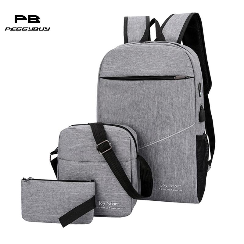 2019 USB Charging Canvas Backpack Back Pack S Women School Backpacks Schoolbag For Teenagers Man Student Book Anti Theft Bag Boy