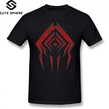 Warframe T Shirt Stalker Sigil T-Shirt Short-Sleeve Oversize Tee Casual 100 Cotton Funny Man Printed Tshirt