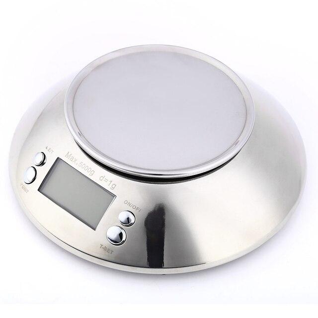 Balance de Cuisine en acier inoxydable 5 kg/1g Balance électronique Cuisine Balance alimentaire Cuisine Balance numérique de précision avec bol outil de cuisson 2