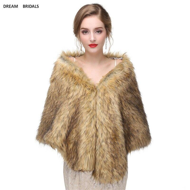 Customized New Wedding Bridal Warm Wraps Faux Fur Bolero Women Shawls Solid Shawls Wedding Capes Marriage High Quality