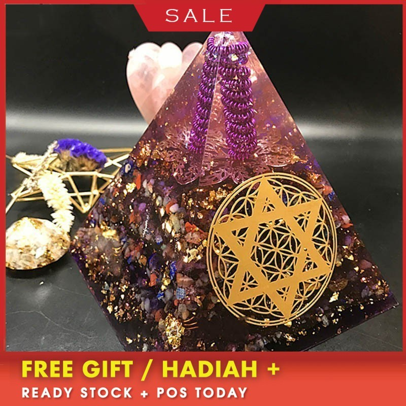 Orgonite Pyramid Orion Energy Tower Love Fortune Energy Converter Reduces Negative Energy Resin Decorative Craft Jewelry Gift