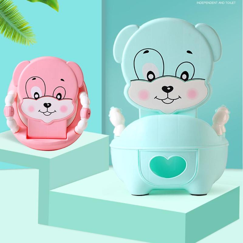 Cute Cartoon Baby Potty Seat Training Toilet Seat Kids Portable Urinal Backrest Cute Pot For Baby Kids Toilet Training Potty