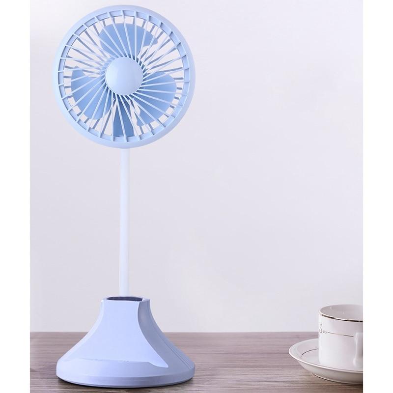 NEW Usb Rechargeable Desktop Desk Lamp Fan Student Learning Multi Function Pen Holder Table Lamp Fan For Home Office Best Gift in Fans from Home Appliances
