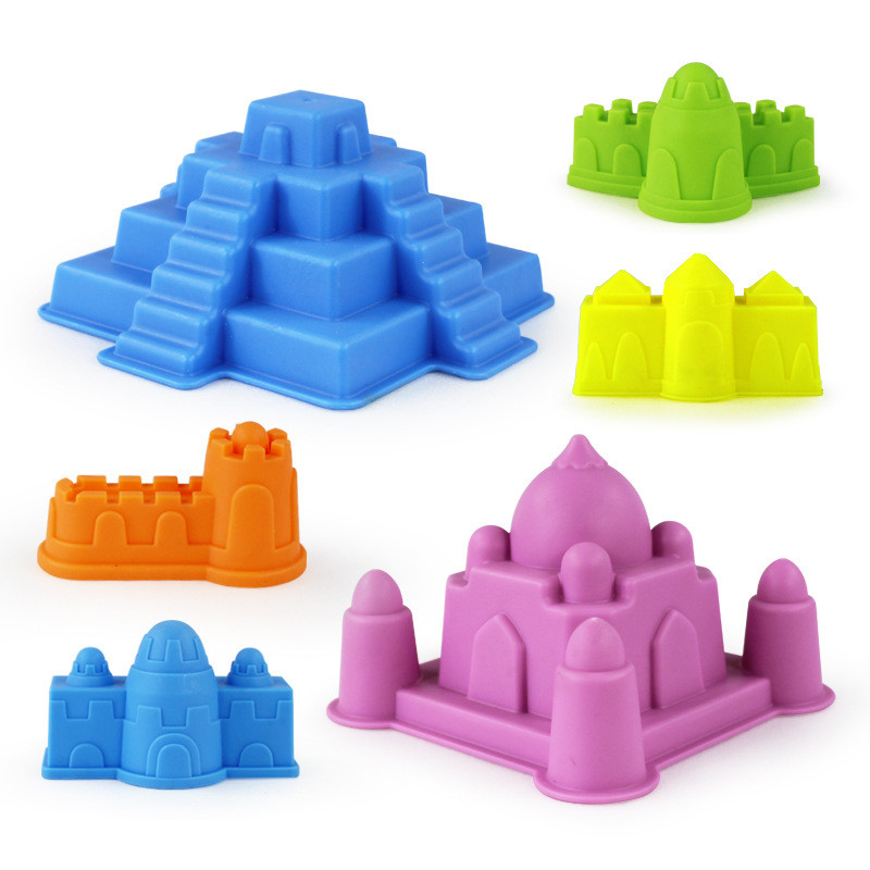 6Pcs Sand Beach Castle Model Kids Beach Castle Water Tools Game Funny Educational Toys For Children Bathing Outdoor Best Gift
