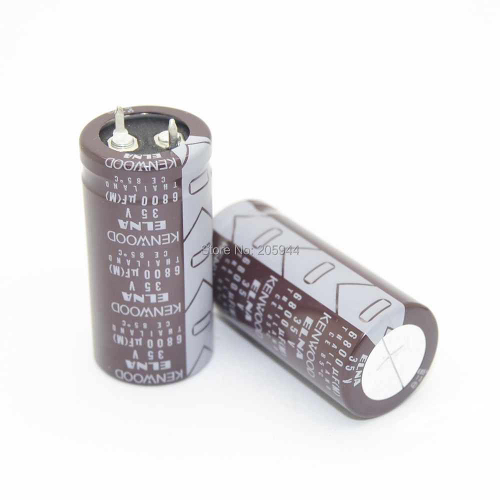 2pcs ELNA  LAO 6800uf 35V 22*45mm Electrolytic capacitors 4095|elna|elna 6800uf  - AliExpress