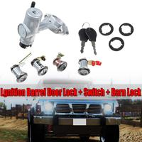 Car Switches Car Start Switch Kits New Ignition Barrel Door Lock + SWITCH + Barn Lock For Nissan For Patrol GQ Y60 1988 1998