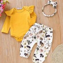 Pudcoco/комплект для девочек от 0 до 18 месяцев, AU,, Одежда для новорожденных девочек Комбинезон, футболка комплект леггинсов из топа и штанов
