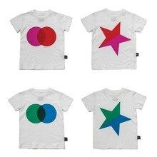Детские футболки 2019 Nununu лето обувь для мальчиков девочек со звездами футболки с коротким рукавом маленьких детей хлопковые топы футболк