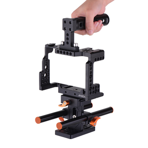 Image 1 - Andoer Camera Cage +Top Handle +15mm Rod Baseplate Kit Video Movie Making Stabilizer for Sony A7III/SII/M3/A7RII Camera