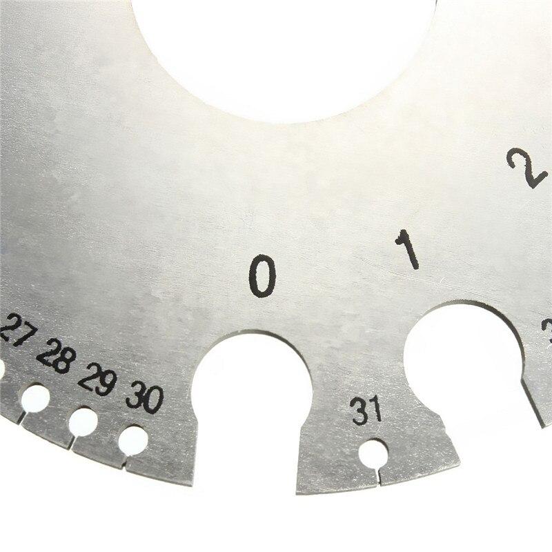 1 stücke ZEAST Edelstahl Runde Draht Dicke Messung Gauge Durchmesser Gage Werkzeuge Mit Tasche Beliebte Kosten-effektive