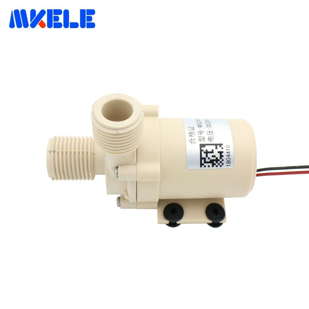DC24V 9M Brushless Water Pump Silent High Temperature Solar Electric Gas Water Heater Circulating Booster Pump in Pumps from Home Improvement