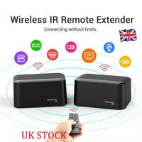 New 1 Pair Wireless IR Remote Extender Repeater HDMI Transmitter Receiver Kit Blaster Emitter 433.92MHz Transmission Frequency