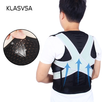 KLASVSA Adjustable Posture Corrector Back Straightener Brace Support Shoulder Lumbar Support Spine Belt Therapy Health Bone Care