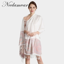 Neelamvar 2019 Fashion Bandana Luxury Cachecol  Brand Cotton Jacquard Scarf Women Shawl High Quality Tassel