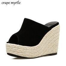 купить Women Summer slides shoes for women Open Toe Sandals Woman Flip Flops Wedges Platform Ladies Beach Shoes stripper heels YMA718 по цене 1516.59 рублей