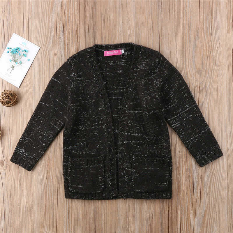 5c09e9058b88 Detail Feedback Questions about Fashion Baby Girl Black Knit Sweater ...